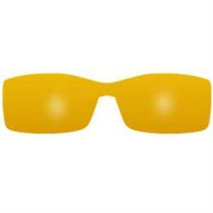 Mask forme RECTANGLE T8 JAUNE / Mask rectangular shape T8 YELLOW