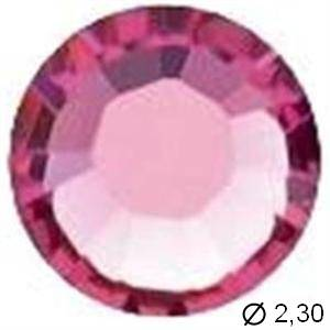 TUBE 10 STRASS G7 ROSE
