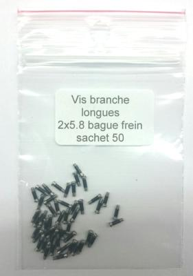 Vis branche longues gainage frein / long screws for glasses
